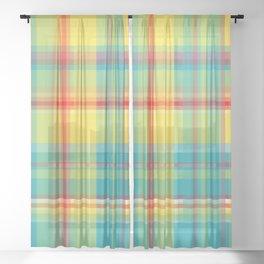 Striped 2X Sheer Curtain