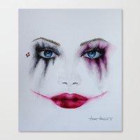 harley quinn Canvas Prints featuring Harley Quinn by Halinka H