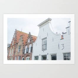 Veere - old houses! Art Print