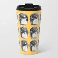 Minifigure Pattern – Yellow Travel Mug