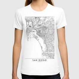 San Diego White Map T-shirt