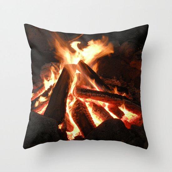 Campfire Throw Pillow