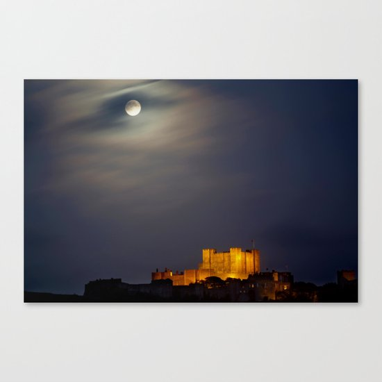 Full Moon over Dover Castle Canvas Print