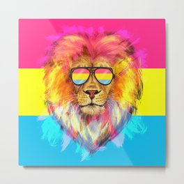 The Pan Lion Pride Metal Print