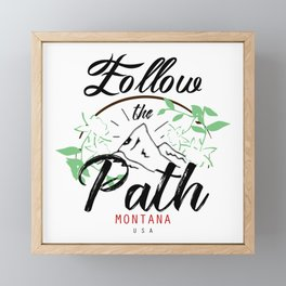 Follow the Path Framed Mini Art Print