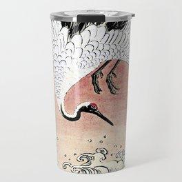 Crane and Wave Travel Mug