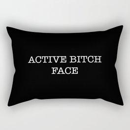 active bitch face Rectangular Pillow