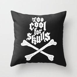 Skulled Throw Pillow
