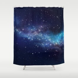 Floating Stars - #Space - #Universe - #OuterSpace - #Galactic Shower Curtain