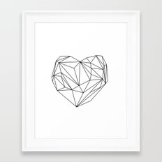 Heart Graphic (black on white) Framed Art Print