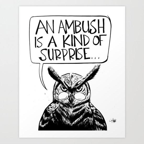 Said Owl Art Print