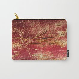 Rusted Gold and Red Abstract Landscape Carry-All Pouch