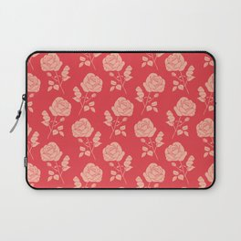 Romantic Pink on Red Roses Laptop Sleeve