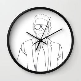 Karl Lagerfeld portrait Wall Clock