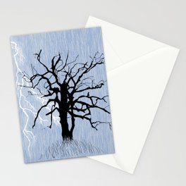 Gnarled Tree and Lightning Stationery Cards