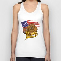 rugby Tank Tops featuring RUGBY by solomnikov