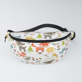 Cute Woodland Creatures Pattern Fanny Pack