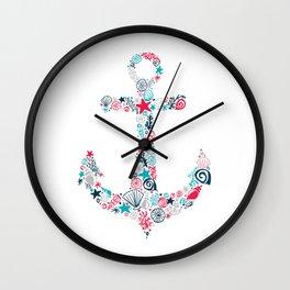 Seashell Anchor Wall Clock