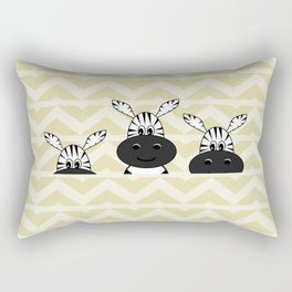 Cute hiding zebras Rectangular Pillow