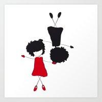 Liz_Dances Art Print