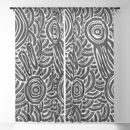 Aboriginal Art Authentic - Meeting Places Sheer Curtain