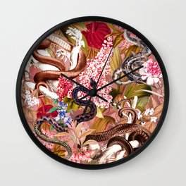 Dangers in the Forest VII Wall Clock