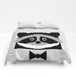Racoon Bw Comforters
