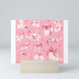 Love Is Stored in The Shih Tzu repeating pattern Mini Art Print