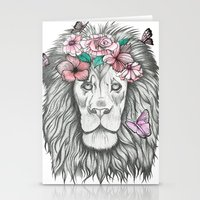 lion king Stationery Cards featuring Lion King by Sorasoraya