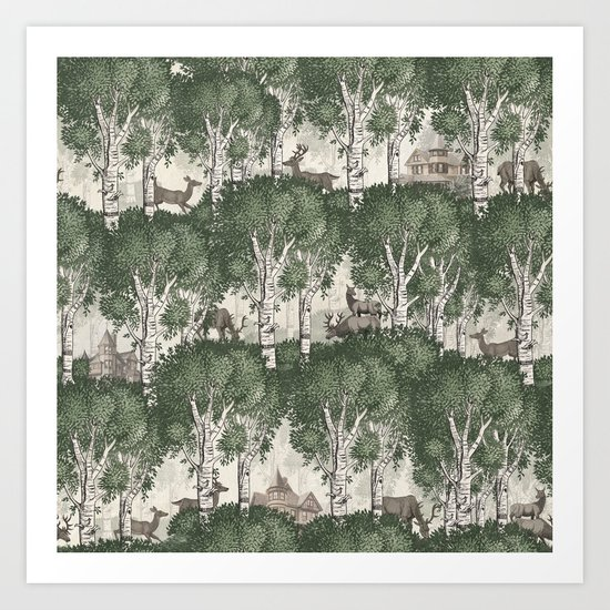 My deer secret forest Art Print