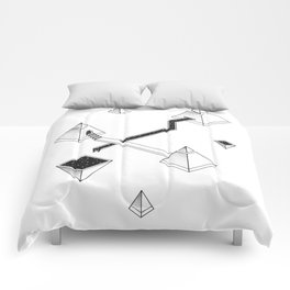Space Pyramids Comforters
