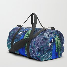 Blue Peacock Duffle Bag