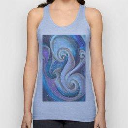 Swirl (blue and purple) Unisex Tank Top
