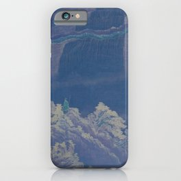 Chinese man with nature vintage illustration painting iPhone Case