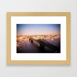 Szabadság híd Framed Art Print
