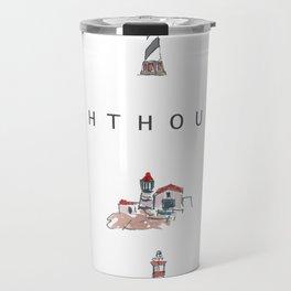 Collection of Lighthouses around the World Travel Mug