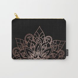 Tiara Mandala Black Carry-All Pouch