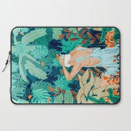 Backyard #illustration #painting Laptop Sleeve