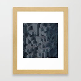 Concrete Abstract Framed Art Print