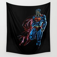 superman Wall Tapestries featuring Superman by DmDan