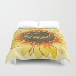 The Word of our God will stand forever Duvet Cover