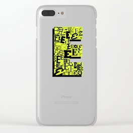 Letter E Clear iPhone Case