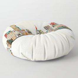 oklahoma city skyline Floor Pillow