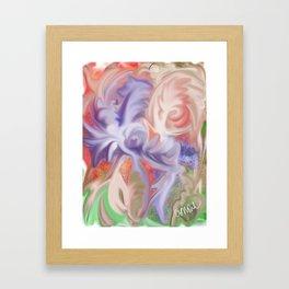 Marbled warbled Framed Art Print