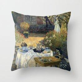 Claude Monet - The luncheon Throw Pillow