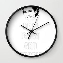 Keep Calm and Carrie On T-Shirt Wall Clock