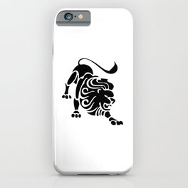 Leo Lion Symbol Astrology Sign Zodiac Black iPhone Case