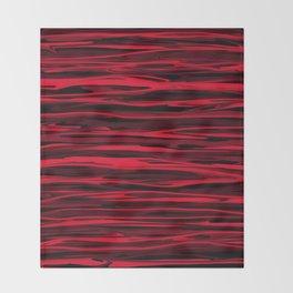 Juicy Red Apple Stripes Throw Blanket