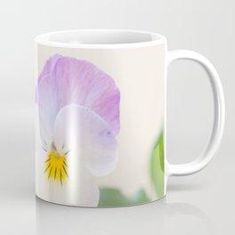Spring Love #1 - Soft violet-white Pansies #decor #art #society6 Coffee Mug