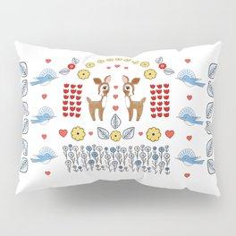 Flora and Fawn-a Pillow Sham